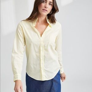 Frank And Eileen Barry Yellow Cotton Shirt, XS